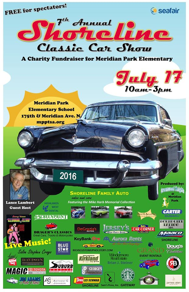 The Shoreline Classic Car Show Meridian Park Elementary Parents - Kirkland classic car show 2018